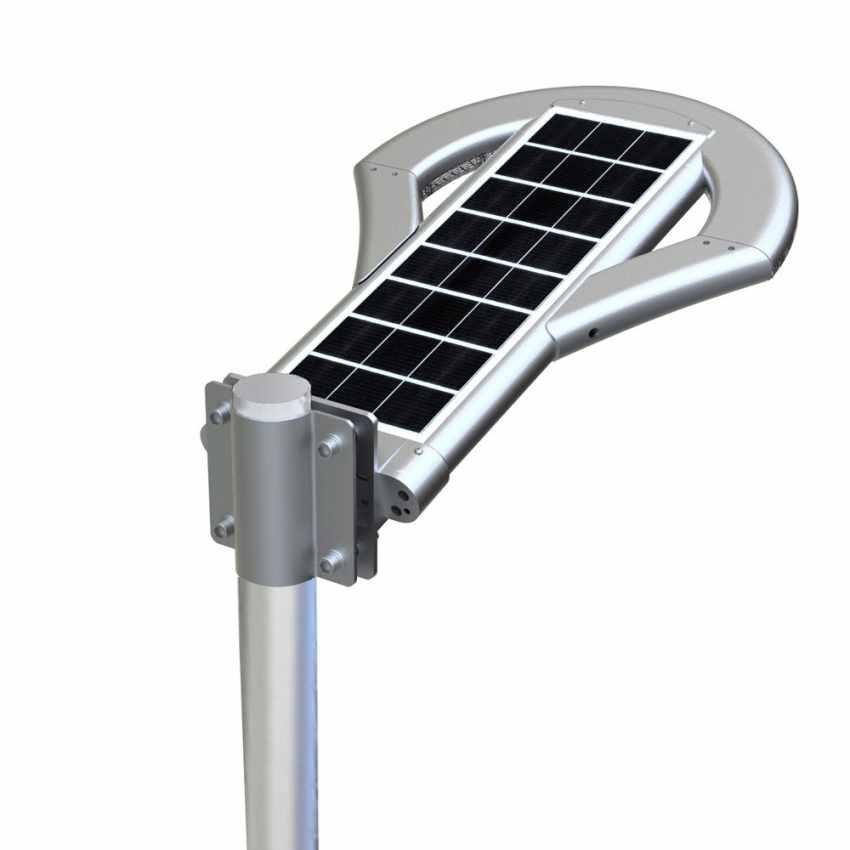 LS240LED - Lampione stradale led ad energia solare 2500 Lumen per viali parcheggi e strade UFO - strisce