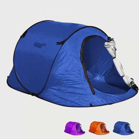 tenda spiaggia 2 posti mare tendafacile campeggio blu