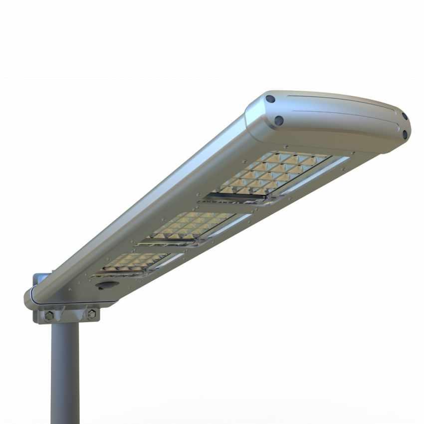 LS303LED - Lampione stradale TRACKLIGHT 72 Led 3000 Lumen pannello solare parcheggio strada - offerta