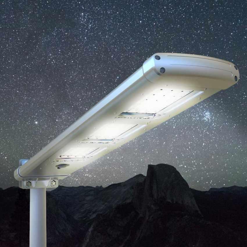 LS303LED - Lampione stradale TRACKLIGHT 72 Led 3000 Lumen pannello solare parcheggio strada - blu