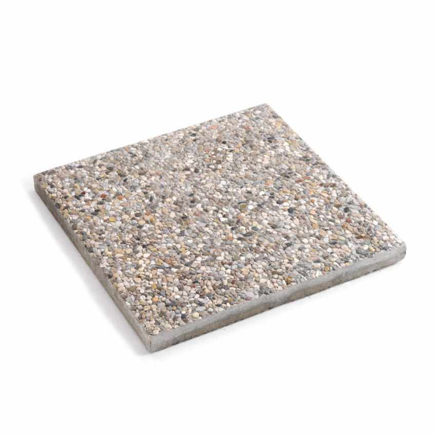 BA5050CE - Piastra base cemento ombrellone giardino mattonella basamento 50x50 - offerta