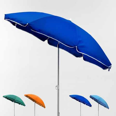 LI180POL - Ombrellone mare spiaggia alluminio 180 cm leggero LIGNANO - basso prezzo
