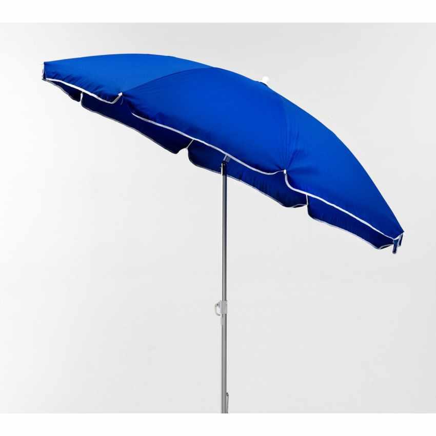 LI180POL - Ombrellone mare spiaggia alluminio 180 cm leggero LIGNANO - marrone