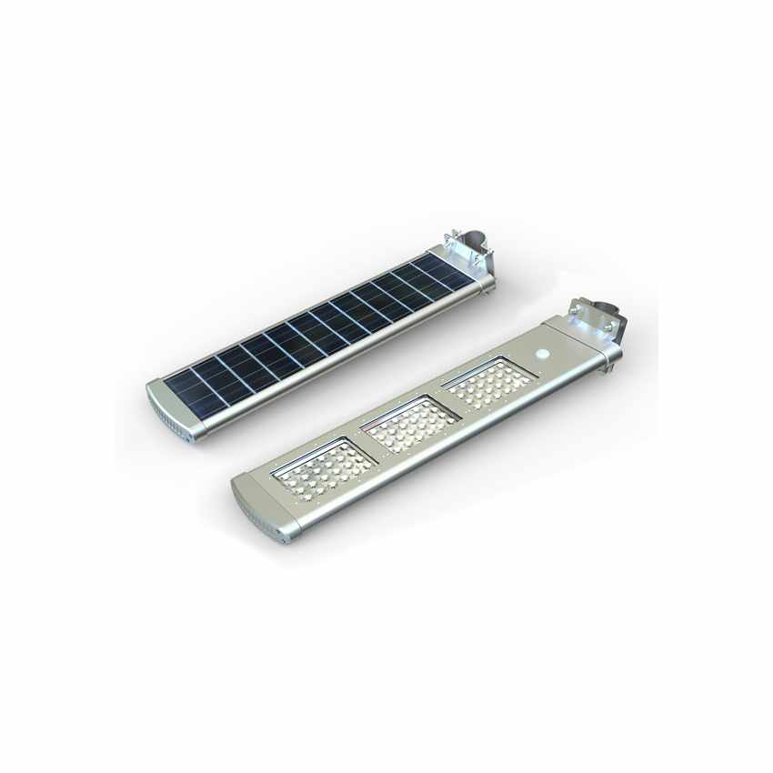 LS072LED - Lampione stradale a Led 3000 Lumen con pannello solare giardino parcheggio e strada HIGHWAY - basso prezzo