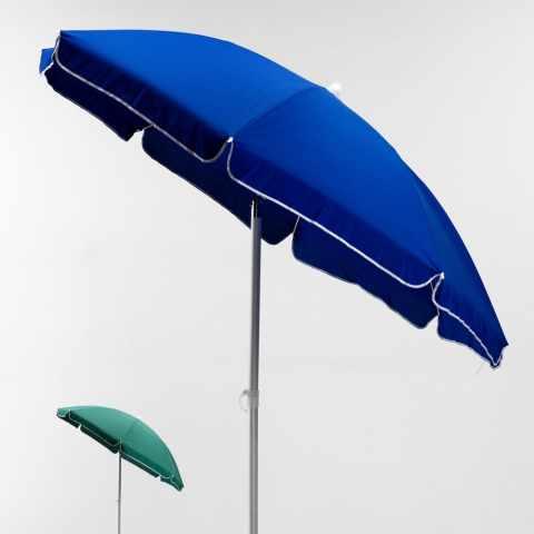 ombrellone mare spiaggia alluminio leggero lignano 200 blu