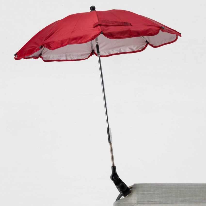 OM100UVA - Ombrellino mare bambini passeggino sedia spiaggia protezione uv CHILD - grigio