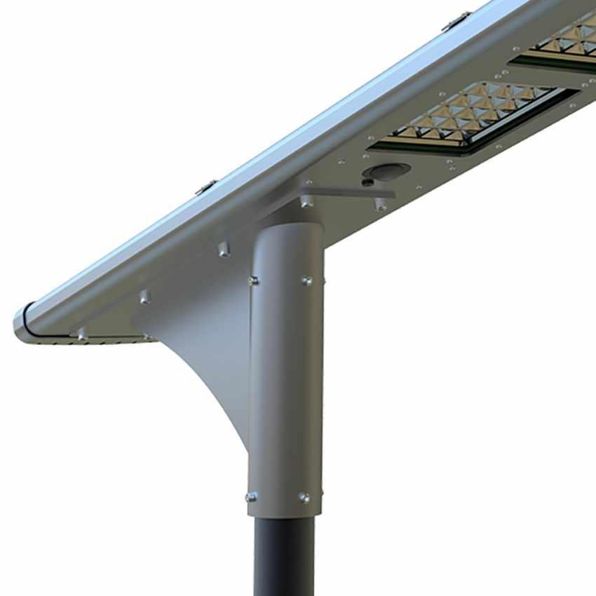 LS500LED - Lampione stradale solare FULLMOON 72 Super Led 5000 Lumen per Strade e Parcheggi - crema