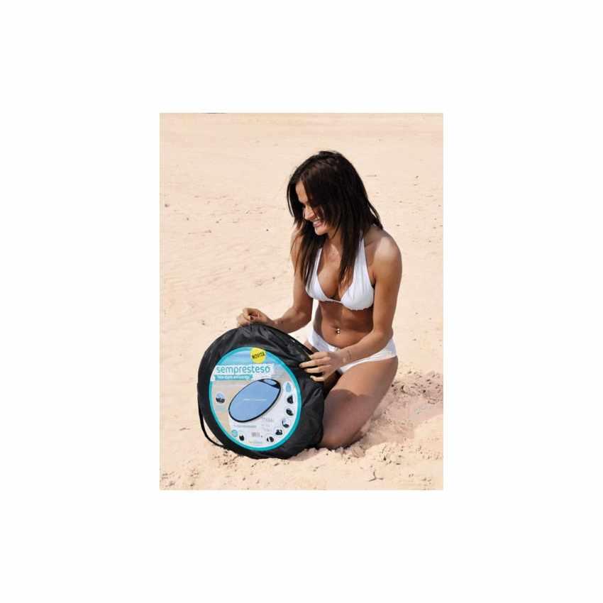 SS151CS - Telo mare antisabbia antivento impermeabile spiaggia SEMPRESTESO - rosso