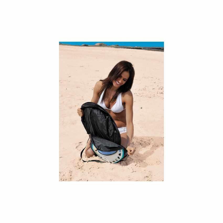 SS151CS - Telo mare antisabbia antivento impermeabile spiaggia SEMPRESTESO - marrone