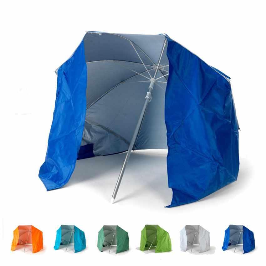 PI160UVA - Ombrellone mare portatile molto leggero alluminio spiaggia tenda 160 cm PIUMA - offerta