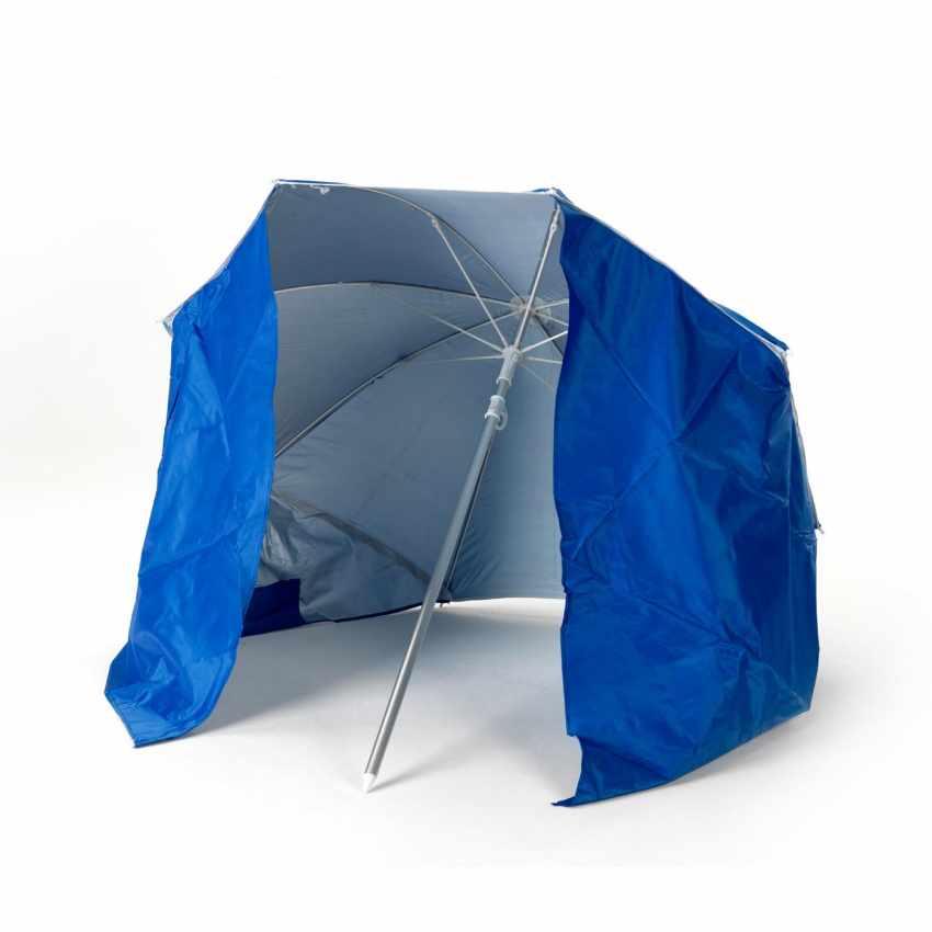 PI160UVA - Ombrellone mare portatile molto leggero alluminio spiaggia tenda 160 cm PIUMA - nero