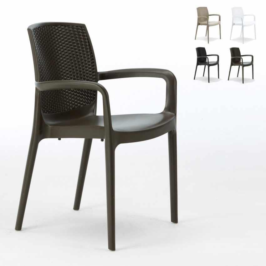Offerta 18 sedie da giardino esterno bar ristorante con for Sedie giardino esterni