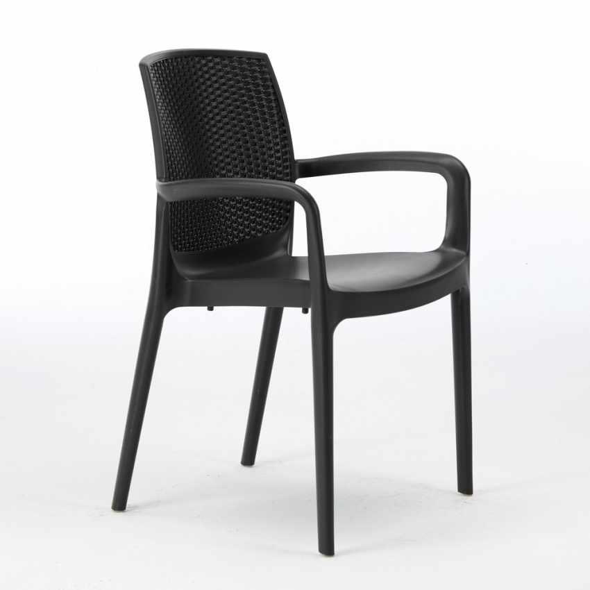 sedia da giardino per bar ristoranti impilabile lavabile nera