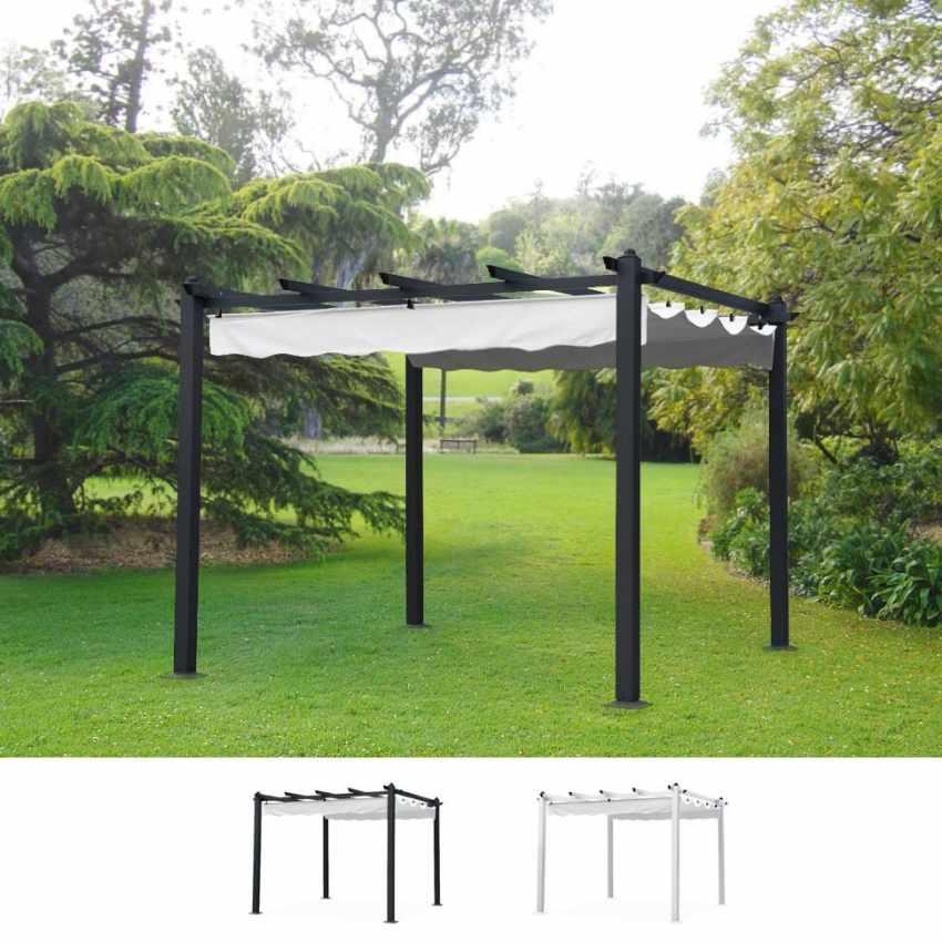 Gazebo quadrato in alluminio per bar giardino ristoranti 3x3 firenze - Pergola giardino ...