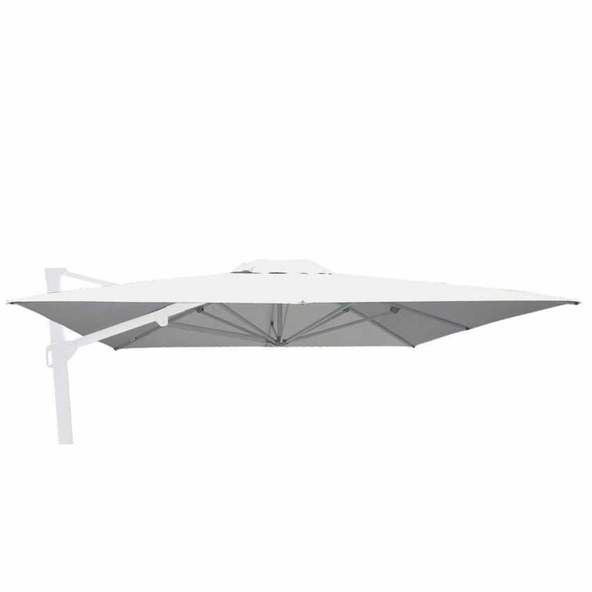 RIC-SA300UVA - Telo ricambio per ombrellone giardino 3x3 quadrato braccio decentrato - grigio