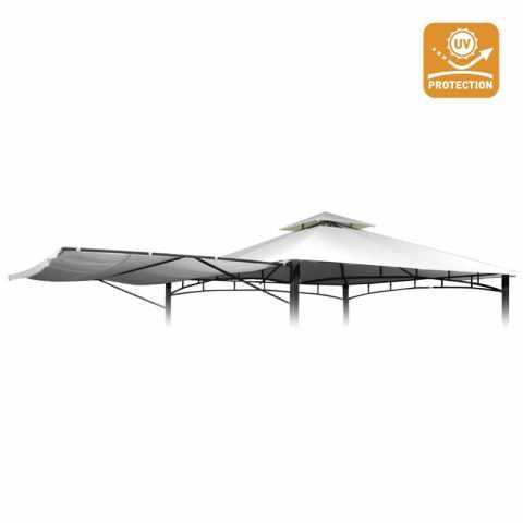 TEAN330UVA - Telo ricambio 3,3x3,3 gazebo Antigua sostitutivo copertura protezione uv - marrone