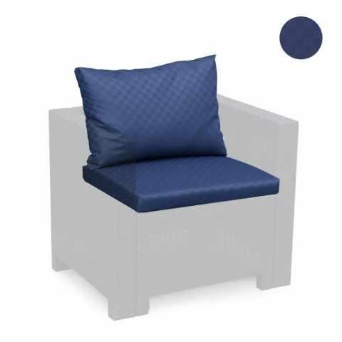 cuscino salotto giardino blu