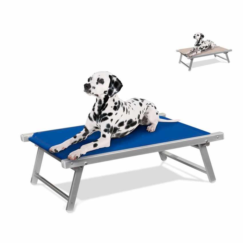 LC104TEX - Brandina per cani lettino alluminio sdraio animali cuccia DOGGY - arancione