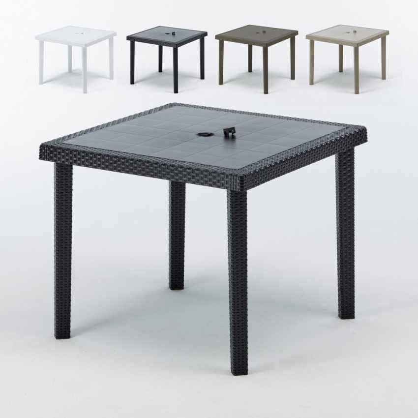 12 Tavoli bar poly rattan quadrati 90x90 Grand Soleil BOHEME - detalle