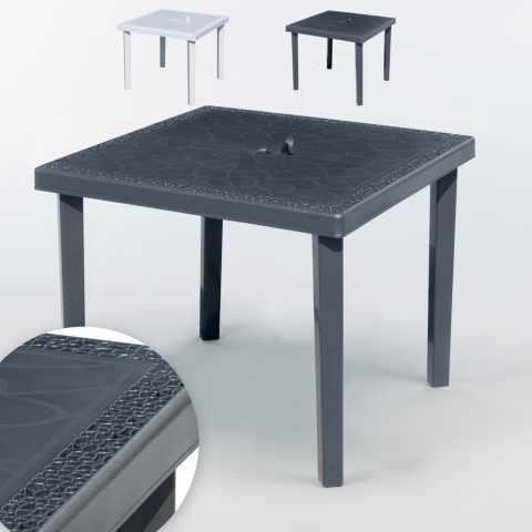 tavoli bar polyrattan quadrati 90x90 grand soleil gruvyer nero stock