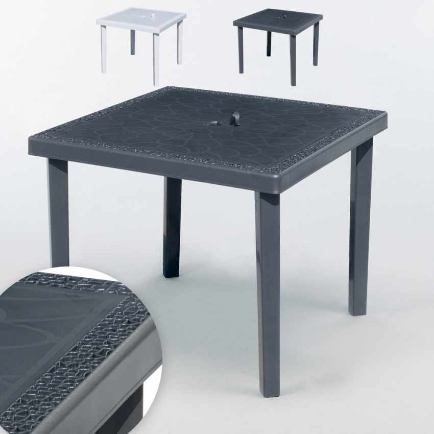 Offerta 12 Tavoli da Esterno Bar Quadrati 90x90 GRUVYER Grand Soleil - foto