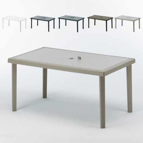 tavolino da esterno bar in plastica beige