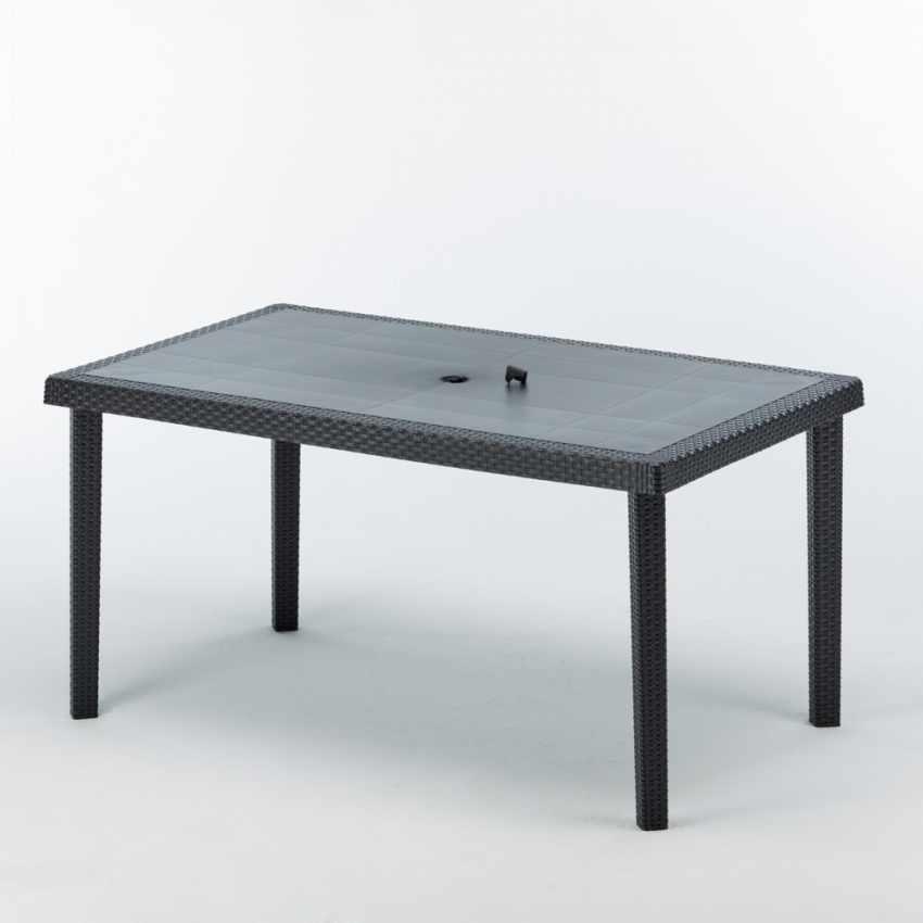 S7050J12PZ - Tavoli Polyrattan rettangolari 150x90 Grand Soleil BOHEME offerta stock 12 pezzi - outlet