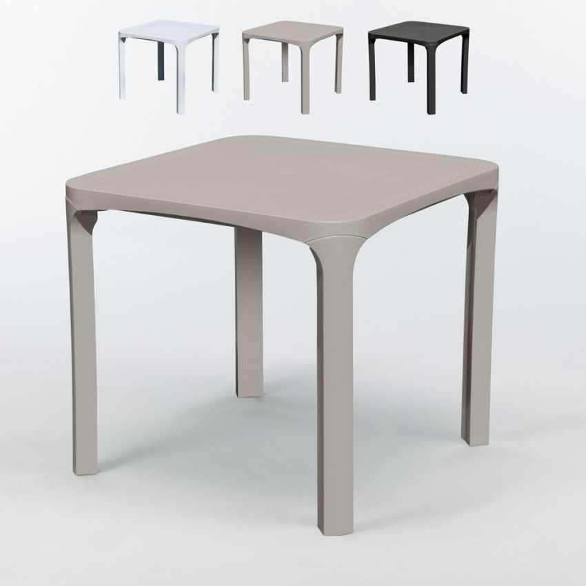 Offerta 14 Tavoli da Esterno Giardino Bar in Polyrattan 80x80 OLÈ Grand Soleil - precio