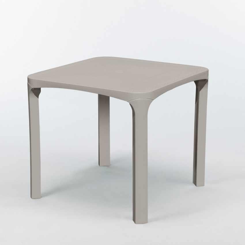 stock 14 tavolini da bar in polyrattan quadrati beige