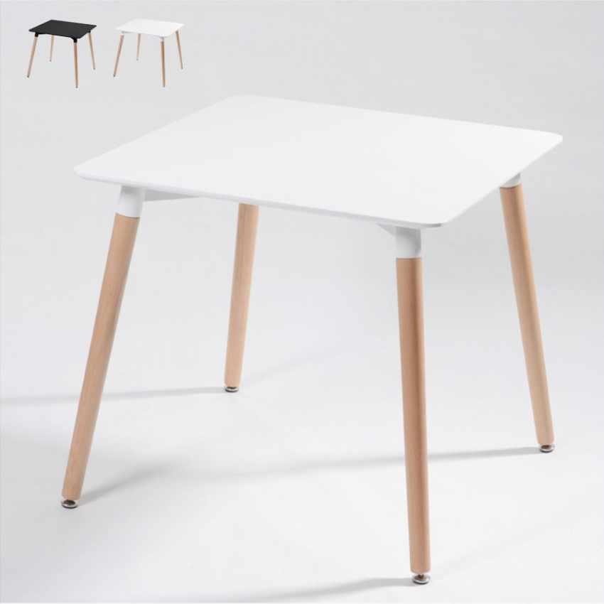 Tavoli Di Plastica Quadrati.Tavolo Dsw Eamess Daw Quadrato In Legno E Polipropilene 80x80 Bar