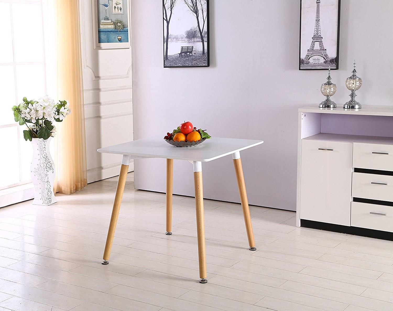 Tavolo Soggiorno quadrato in legno e polipropilene 80x80 ...