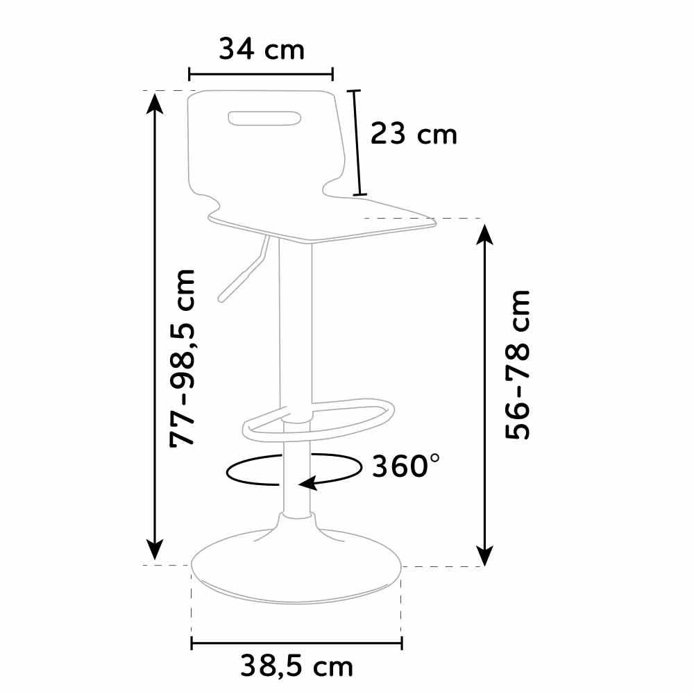 Sgabello per bar e cucina acciaio cromato SAN JOSE Design Moderno | eBay