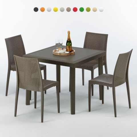 Sedie E Tavoli Polyrattan Per Giardino Esterni E Bar Modelli E Prezzi