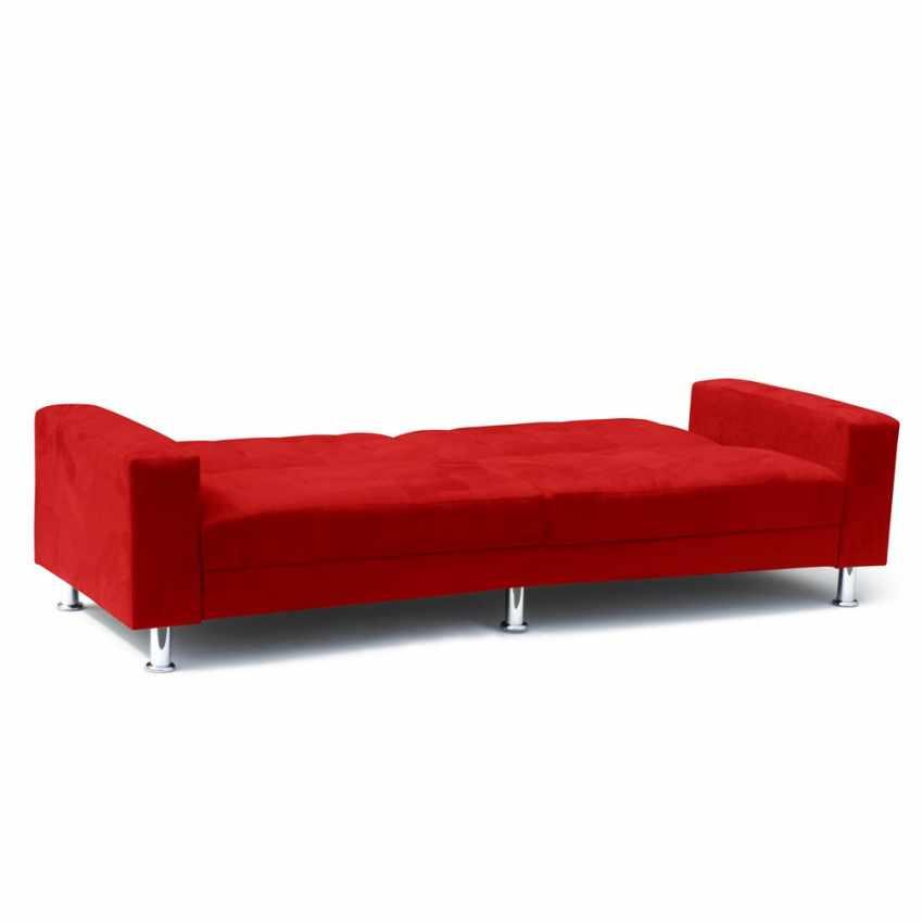 Divano letto 2 3 posti con cuscini schienale reclinabile - Ebay divano letto matrimoniale ...