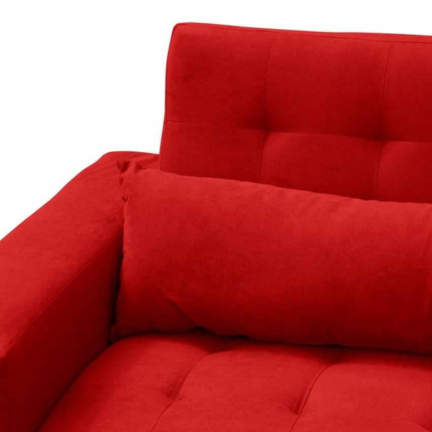 Divano letto 2 3 posti con cuscini schienale reclinabile - Cuscini schienale divano ...