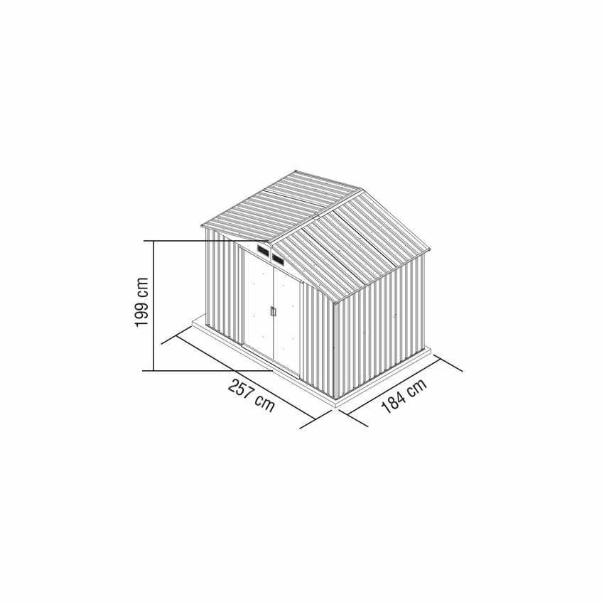 CL257LAM - Box in lamiera zincata verde casetta giardino attrezzi ripostiglio LARGE - rosa