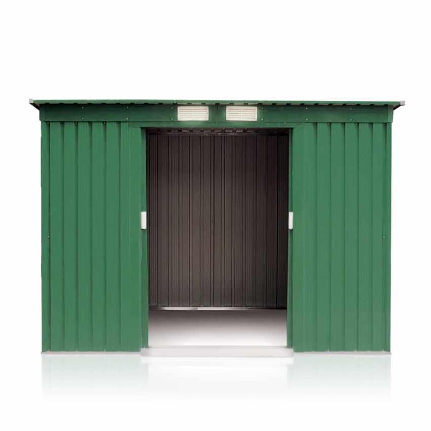 CM194LAM - Box in lamiera zincata verde casetta giardino attrezzi ripostiglio MEDIUM - blu