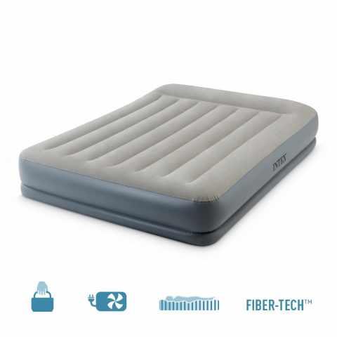 64118 - Materasso matrimoniale gonfiabile Intex 64118 in FiberTech con Pompa integrata - promozione