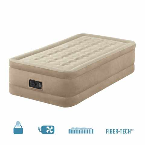 64456 - Materasso gonfiabile Intex 64456 Singolo comfort con pompa interna - outlet