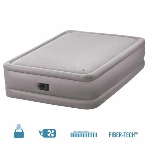 64470 - Materasso gonfiabile matrimoniale Intex 64470 ergonomico con pompa elettrica - basso costo