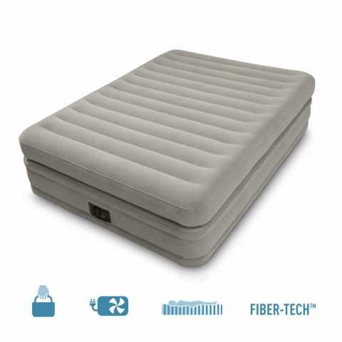 64446 - Materasso Matrimoniale gonfiabile Intex 64446 Comfort Fiber Tech 2 Posti - rosa