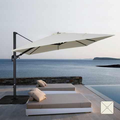 VI303POL - Ombrellone giardino 3x3 braccio alluminio quadrato bar hotel VIENNA - nero