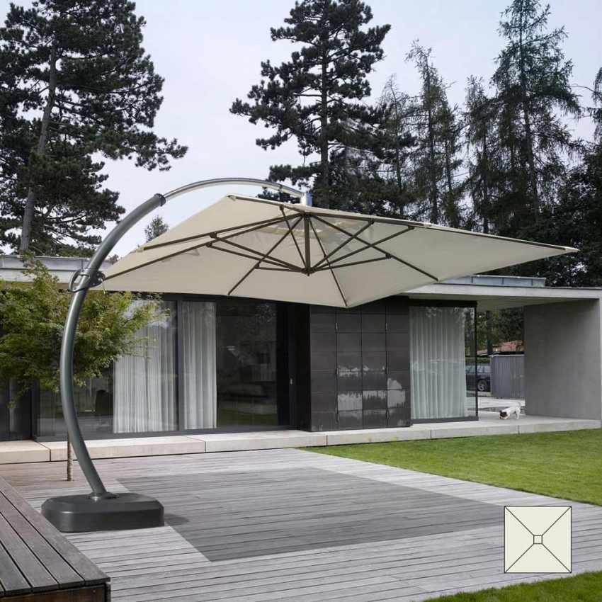 CO350POL - Ombrellone grande giardino 3,5 metri quadrato braccio alluminio COPENAGHEN - verde