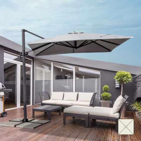 PA250UVA - Ombrellone giardino 2,5 metri quadrato braccio alluminio bar hotel PARADISE - scontato