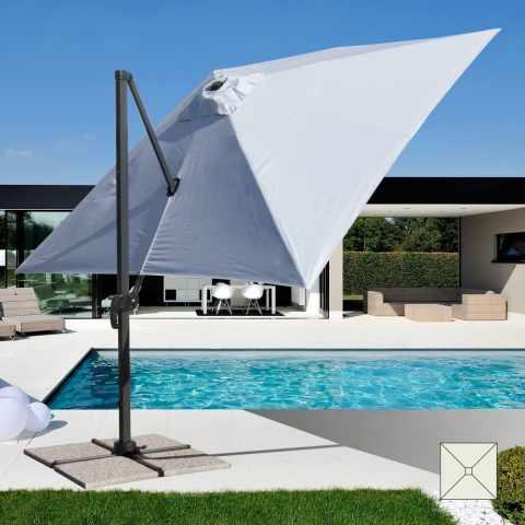 PA303UFR - Ombrellone giardino 3x3 braccio alluminio quadrato PARADISE - particolare