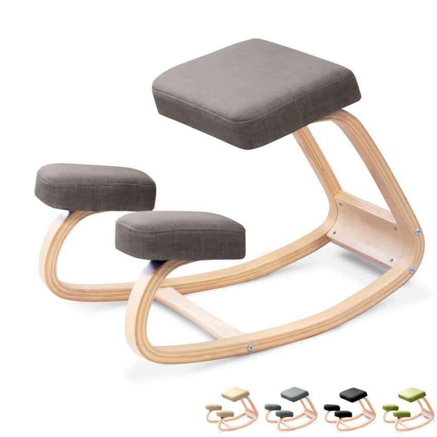 Sedia posturale ergonomica sgabello svedese ginocchia ufficio ...