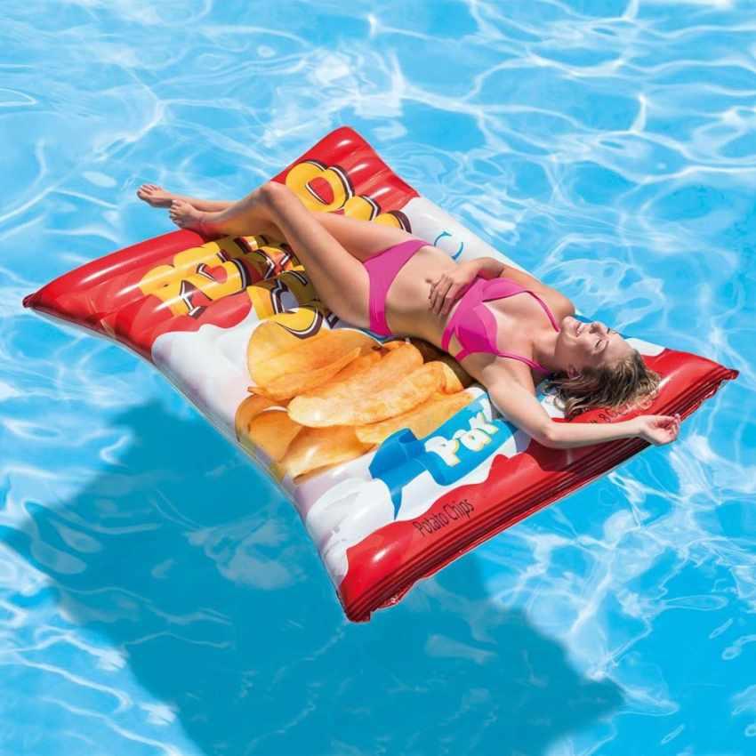 58776 - Intex 58776 materassino gonfiabile CHIPS patatine mare piscina - colorato