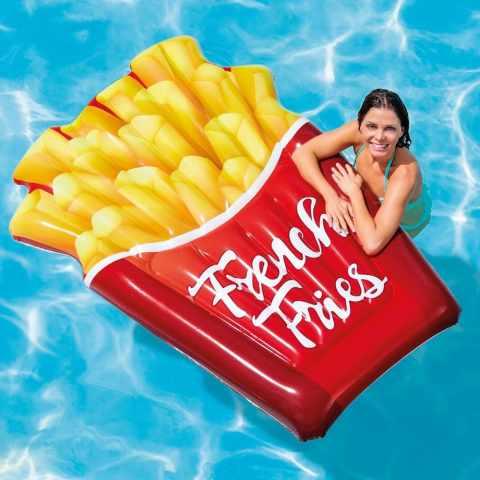58775 - Materassino gonfiabile Intex 58775 FRENCH FRIES patatine fritte piscina mare - giallo
