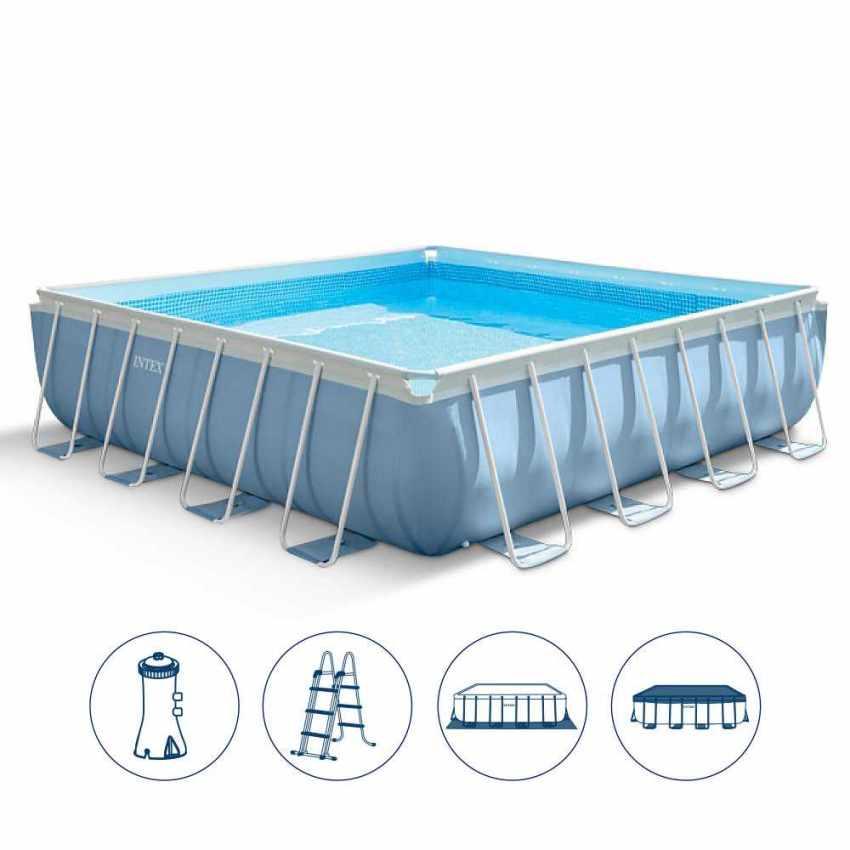 piscina intex cuadrada piscina fuori terra quadrata 427x427 intex 28764 prism frame