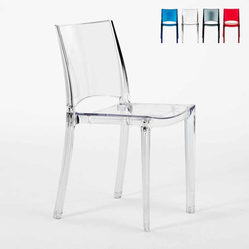 Sedia impilabile trasparente per cucina salotto bar b side for Sedie costo